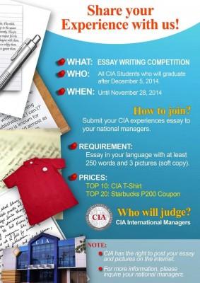 Cuộc thi Chia sẻ kinh nghiệm và kỉ niệm tại CIA