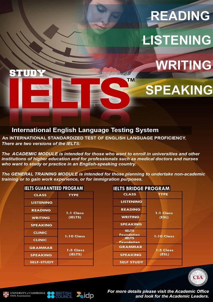 khóa học IELTS ngắn hạn đảm bảo điểm số tại CIA